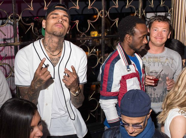 Chris Brown and Sid Owen