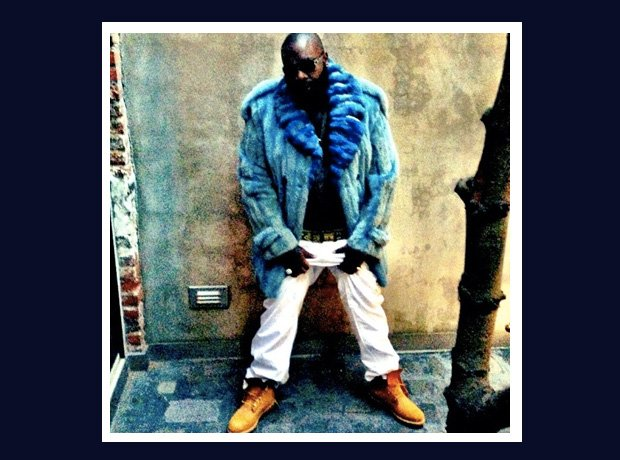 Rick Ross wearing Timbaland boots