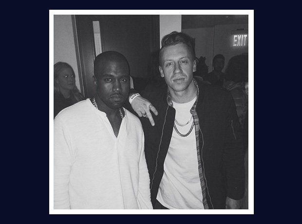 Macklemore and Kanye West at Yeezus tour