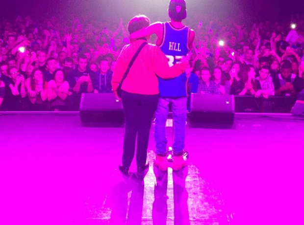 Big Sean with his mum