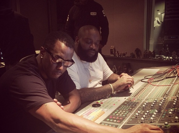 Diddy & Rick Ross In The Studio Working