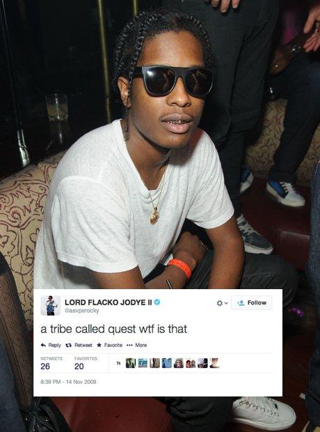 A$AP Rocky first tweet