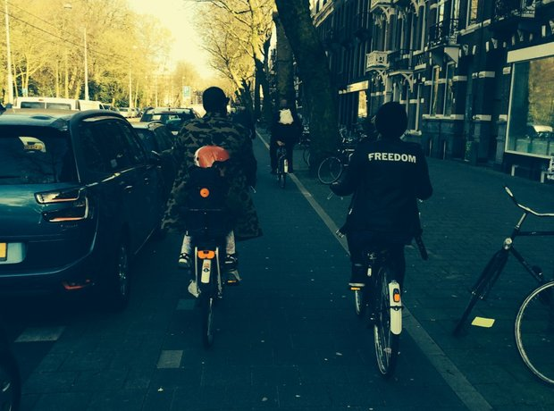 Beyonce Jay Z and Blue Ivy bike ride amsterdam