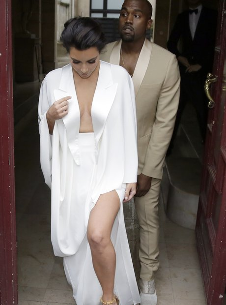 Kim Kardashian and Kanye West pre-wedding dinner