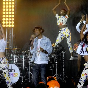 Pharrell Williams live on the Today Show