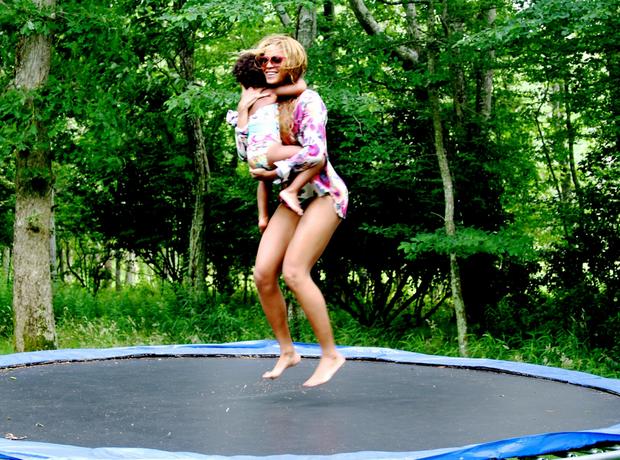 Beyonce Blue Ivy trampoline