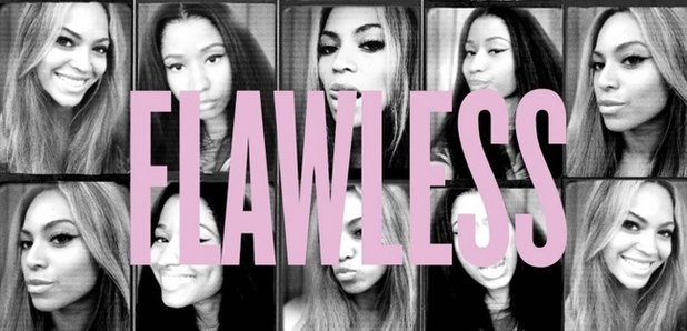 Beyonce 'Flawless' Remix artwork with Nicki MInaj