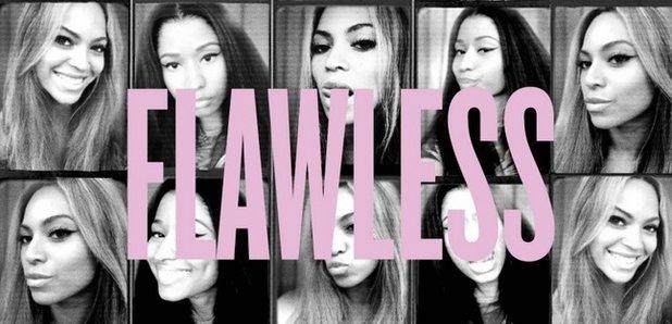 Beyonce 'Flawless' Remix artwork with Nicki MInaj
