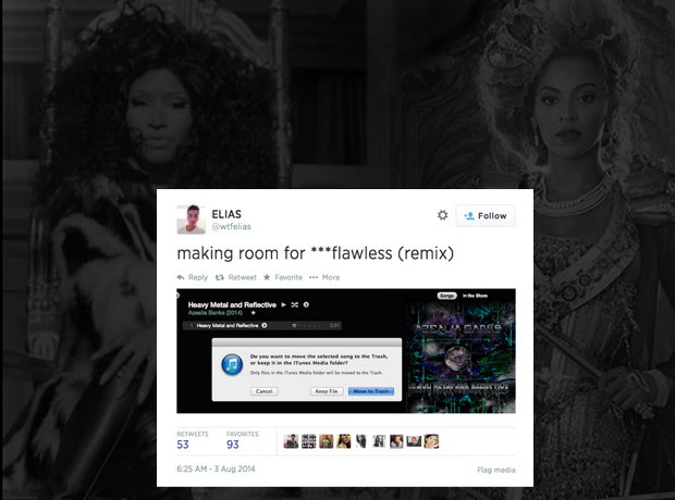 Flawless remix reactions