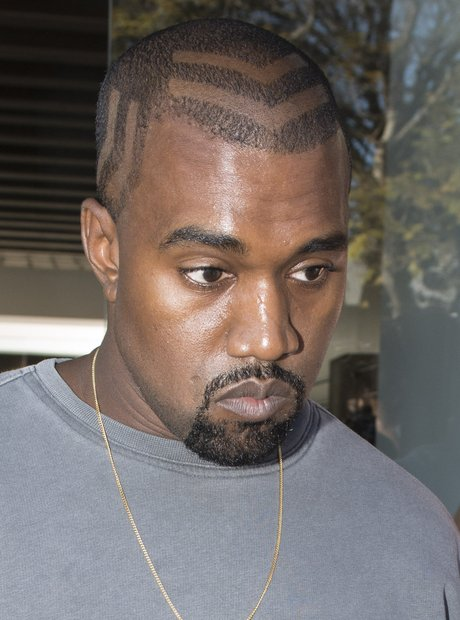 Kanye West reveals new hair shave design