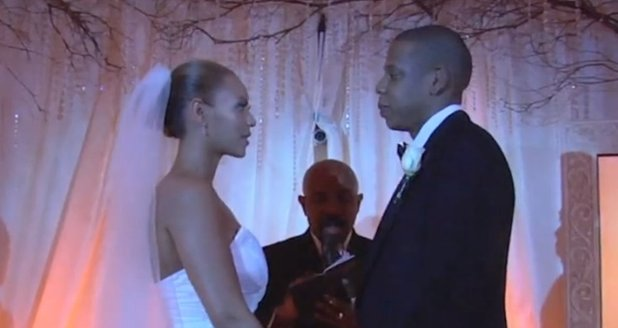 Beyonce and Jay Z wedding day