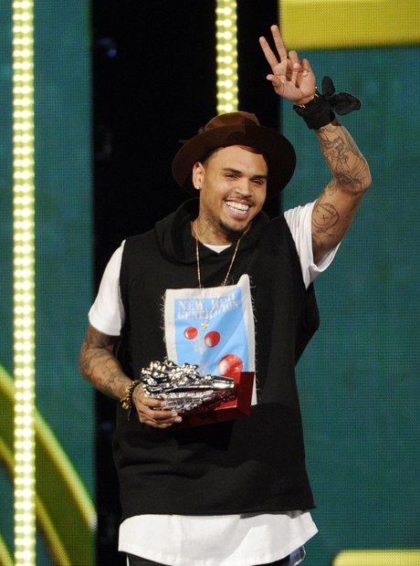 Chris Brown Soul Train Awards 2014
