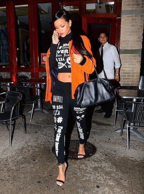 Rihanna wears tracksuit