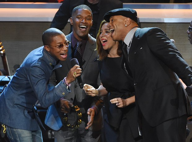 Pharrell Williams, Jamie Foxx, Maya Rudolph and LL
