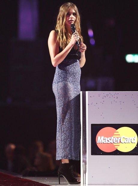 Cara Delevingne BRIT Awards 2015 On Stage