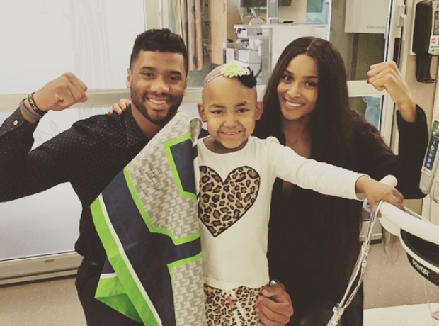Ciara and Russell Wilson hospital