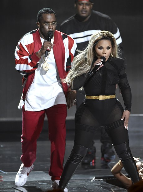 Sean 'Diddy' Combs and Lil Kim BET Awards 2015