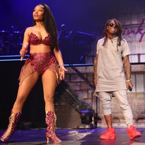 Nicki Minaj and Lil Wanye Onstage