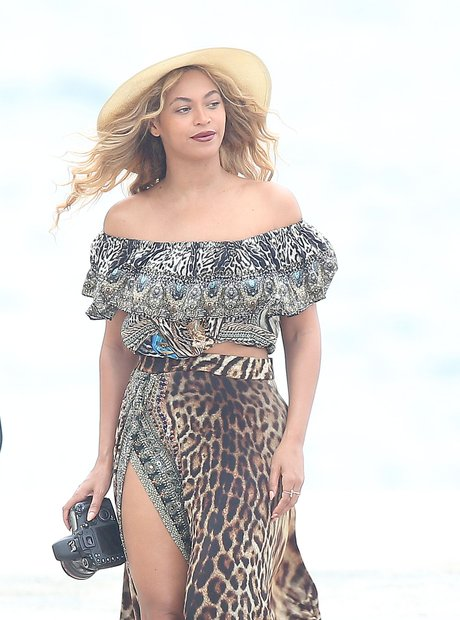 Beyonce on holiday