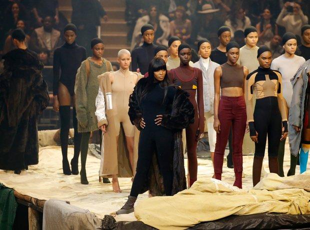 Naomi Campbell Kanye West Yeezy Season 3