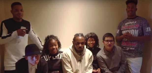 Kendrick Lamar Students at Grammys