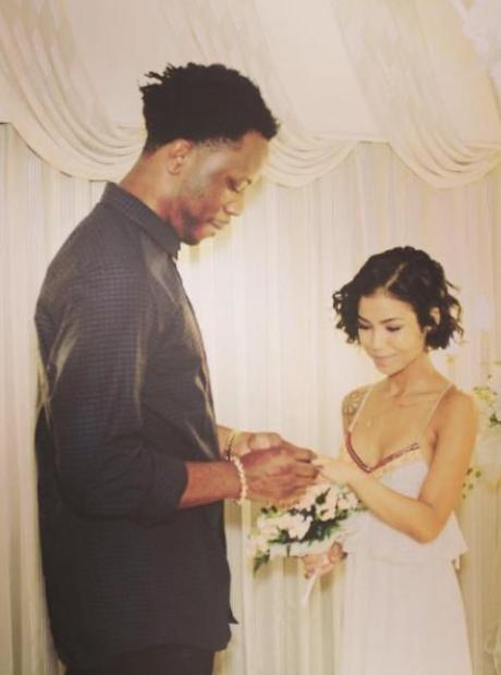 Jhene Aiko and Dot Da Genius wedding