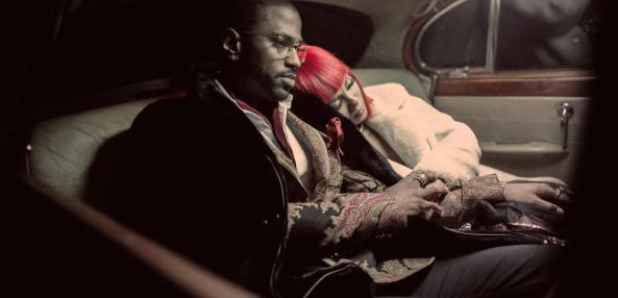 Big Sean and Jhene Aiko sat in car