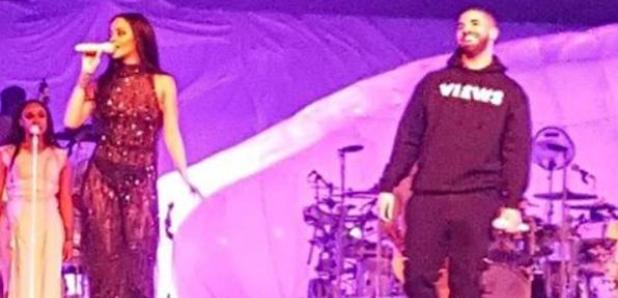 Drake and Rihanna in Toronto