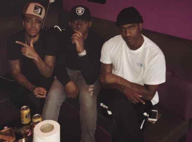 Skepta Fekky and Chip at on chair