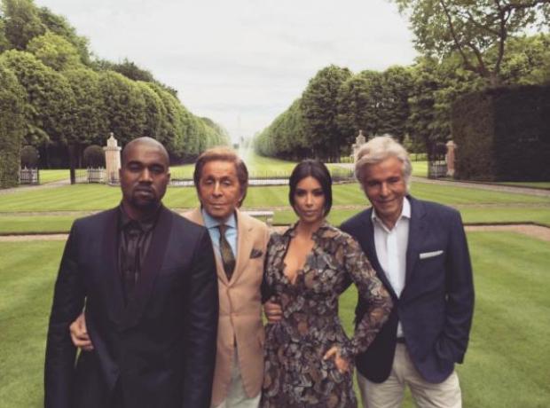 Kanye West Kim Kardashian Valentino