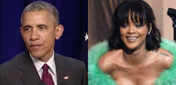 Barack Obama and Rihanna