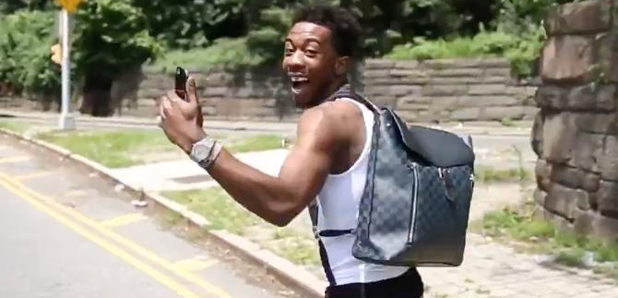 Desiigner playing Pokemon Go