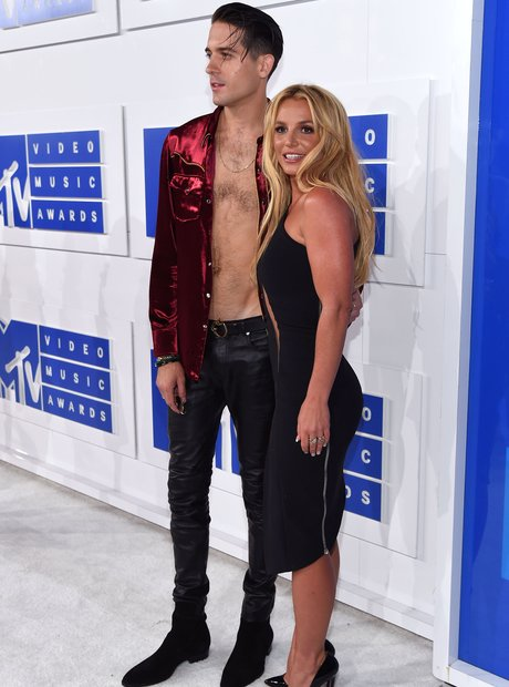 Britney Spears and G.Eazy Red Carpet MTV VMAs 2016