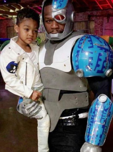50 Cent dressed as cyborg