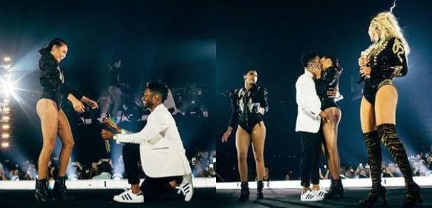Beyonce helps back up dancer get engaged