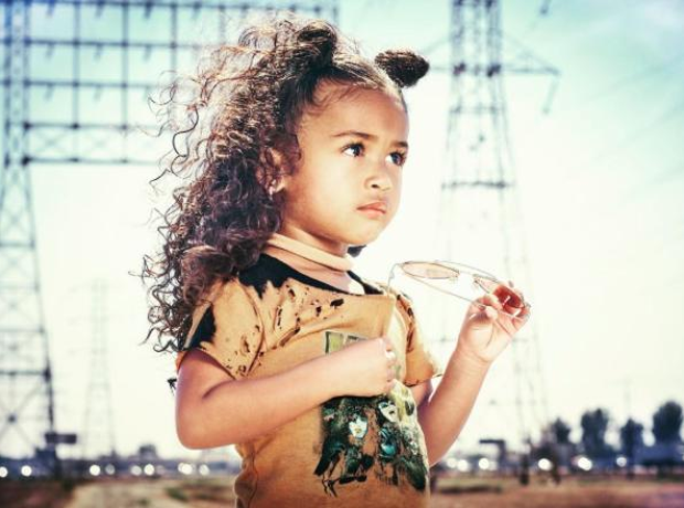 Chris Brown's daughter Royalty modelling