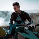 Chris Brown on a dirt bike