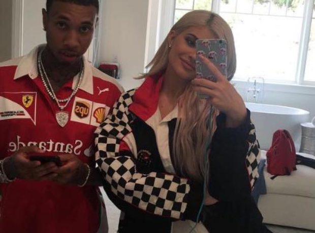 Kylie and Tyga Ferrari