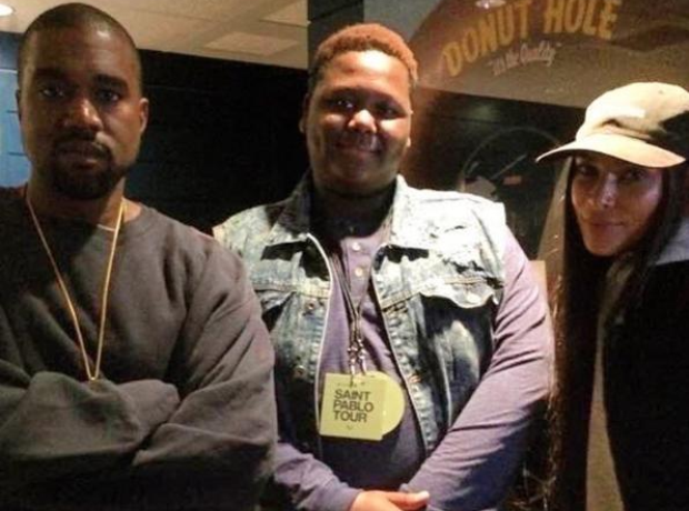 Kanye and Kim With The Late Alton Sterling's Eldes