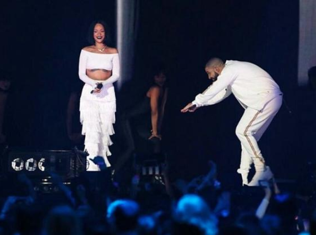 Rihanna and Drake at the BRITs
