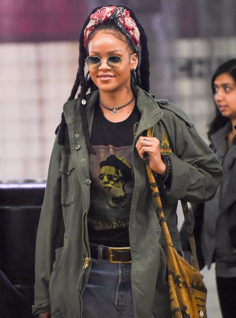 Rihanna on set of Ocean's Eight