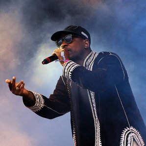 Skepta performing at Glastonbury