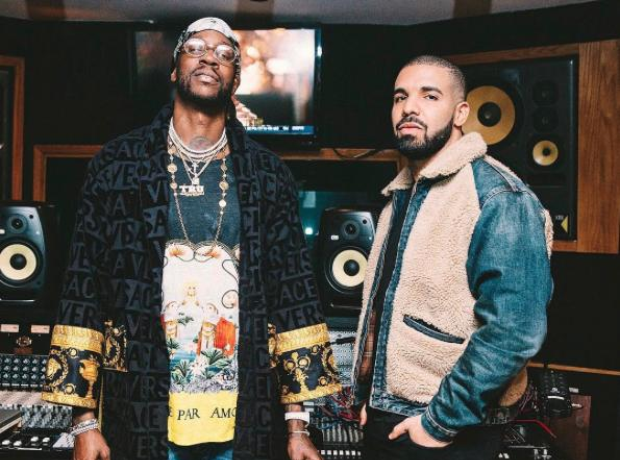 Drake hits the studio with 2 Chainz