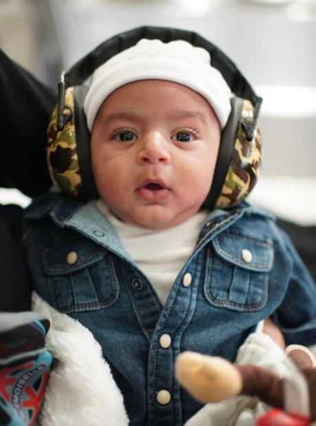 DJ Khaled son headphones