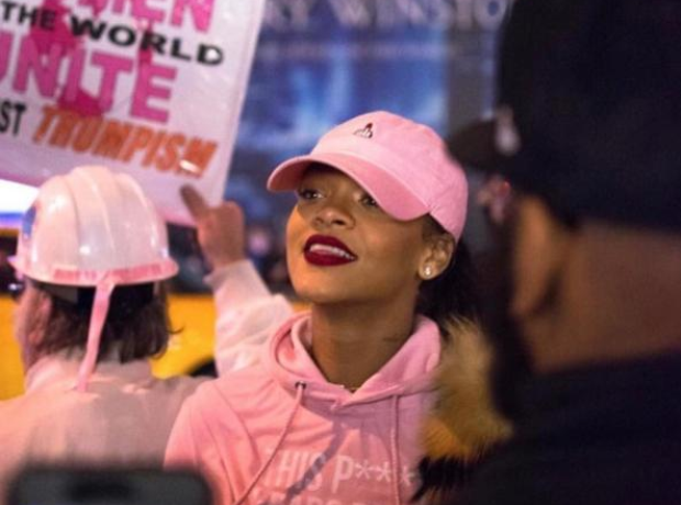 Rihanna Women's March New York