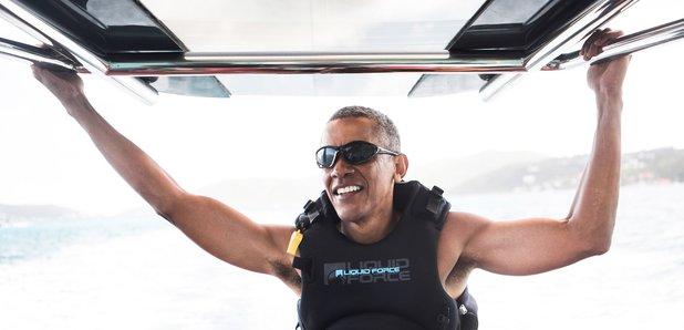Barack Obama on holiday on Necker Island