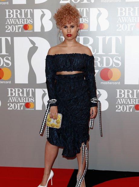 Raye BRITs Red Carpet Arrivals 2017