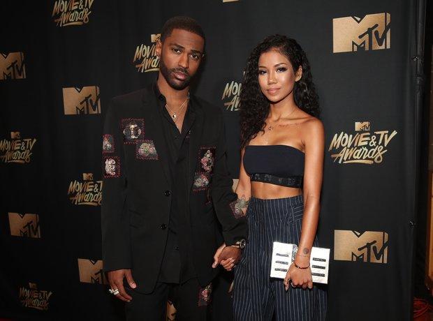 Big Sean and Jhene Aiko at the MTV Movie Awards