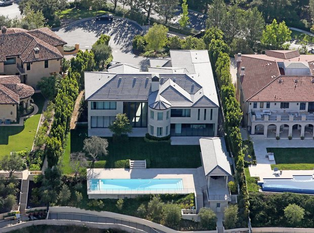 Kim Kardashian and Kanye West's home in Bel Air, C